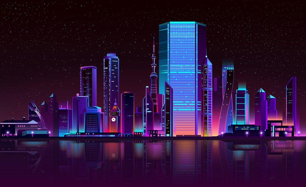 архитектурная подсветка города