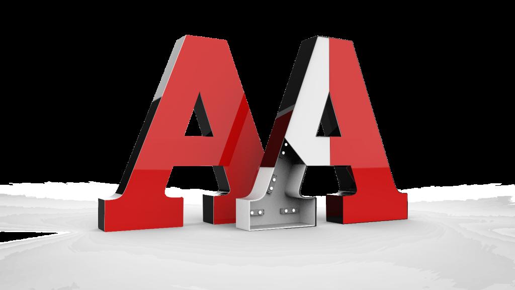 объёмные буквы из акрила