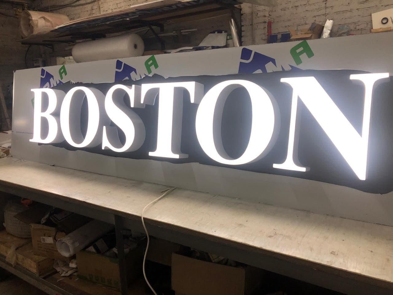 Объемные световые буквы Boston 1
